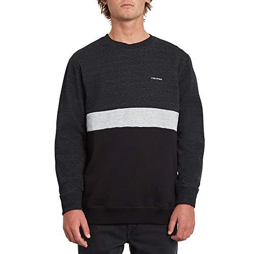 Volcom Herren Sngl STN Div Crew Sweatshirt, Sulfur Black, M