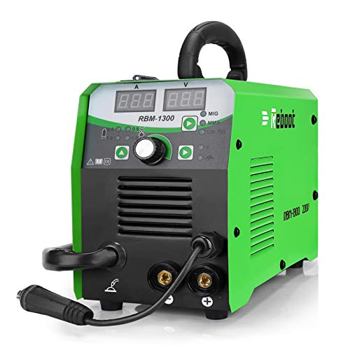 MIG Welder Flux Core Lift Tig MIG130 Gas/Gasless Inverter MIG/Stick/Lift TIG Welder 3 in 1 Flux Core/Solid Wire MIG Welding Machine MMA MIG MAG Newbie Welder