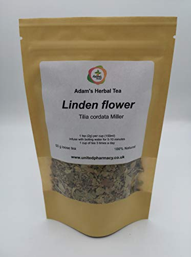 Linden Flower ( Lime ) Herbal Tea 50 g Premium Herbal Loose Tea - 100% Natural