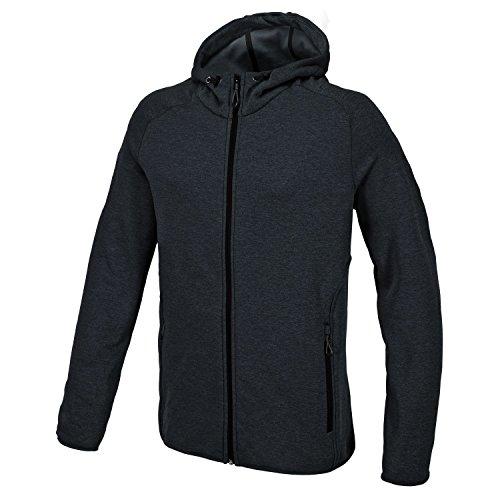 CMP Man Fleece Jacket FIX Hood, Größe:54, Farbe:U990 Piombo Mel.
