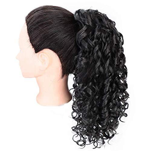 TangYang Haarteile, Curly Ponytail Extension Drawstring Pferdeschwänze für Schwarze Frauen Synthetische Curly Drawstring Pferdeschwanz für Frauen