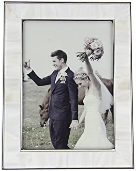 Unique Wedding Picture Frame Sale 5X7 Limited price Ornate White Fulemay Freshwater