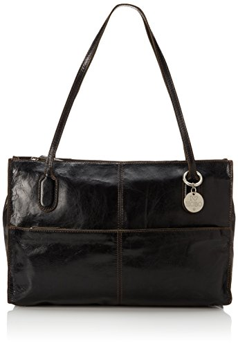 """Structured shoulder bag featuring slender top handles, lined interior, and """"I heart Hobo"""" charm Interior lining color may vary"""