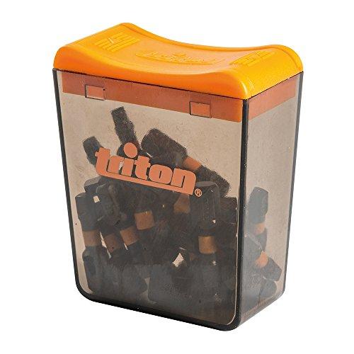 Triton TPTA52868282 Vierkant-Schraubendrehereinsätze, 25er-Pack, schwarz, R #3 25 mm