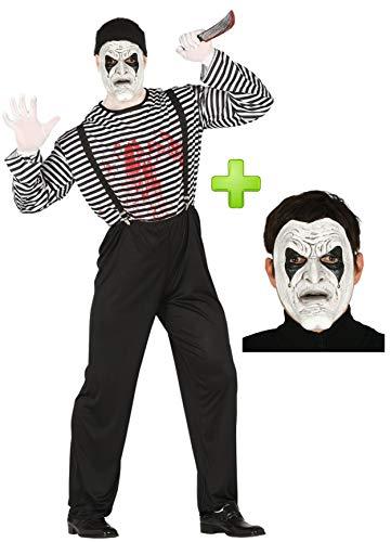 Disfraz de Mimo Asesino con mascara