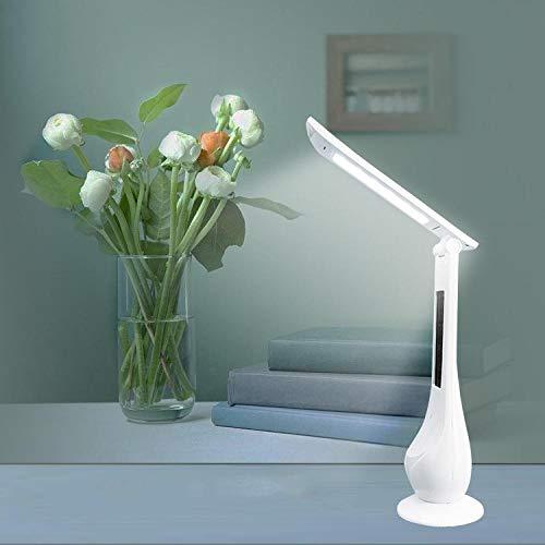LED oogbescherming eeuwige kalender tafellamp tijd wekker USB opladen vouwen roterende touch helderheid student slaapkamer licht