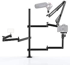 Live Broadcast Boom Arm, ULANZI Flexible Desk Mount Camera Arm Clamp Webcam Stand, Microphone Boom Arm for Blue Yeti Snowball Yeti Nano, Webcam, Camera, LED Light, Voice Recording, Podcasting