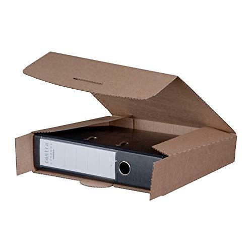 Ordnerversandbox 80B braun 320 x 288 x 80 mm Versandkarton Ordner 20 Stück