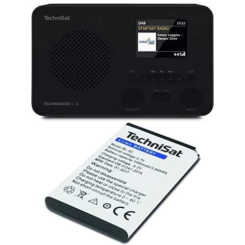 TechniSat TECHNIRADIO 6 IR – portables Internetradio, Schwarz + Akku zu DIGITRADIO 1, DIGITRADIO 2, TECHNIRADIO RDR