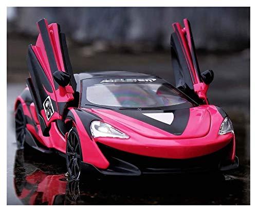 Diecast Model Car 1/32 Aleación de la aleación Mie, fundido para McLaren para 600LT Racing Model Modely Simulación de juguete Sound Light Light Collection Sports Car Toys Vehículo (Color: Rojo) wmpa
