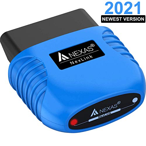 NEXAS Bluetooth 5.0 OBD2 Scanner Code Reader for iPhone Android Windows, Car Diagnostic Scanner Check Engine Light Smog Check Scan Tool for Vehicles After 1996 and for Motorcycles Specially
