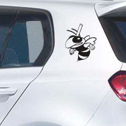 malango® Böse Biene Wespe Autoaufkleber Autosticker Aufkleber Sticker 2 Stk. im Set Erhältlich in mehr als 30 Farben 20 x 25 cm schwarz schwarz 20 x 25 cm