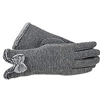 手袋 女性の冬のタッチスクリーン冬の手袋秋の暖かい手袋手首ミトンドライビングスキー防風グローブ HongJie Hou (Color : Style 4 grey, Size : M)