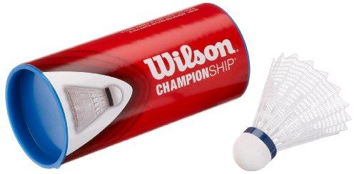 Salomon Wilson Badminton Nylon Federbälle Championship 3er Dose 78 (medium) WHI, Weiss