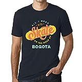 Hombre Camiseta Vintage T-Shirt Gráfico On The Road of Bogota Marine