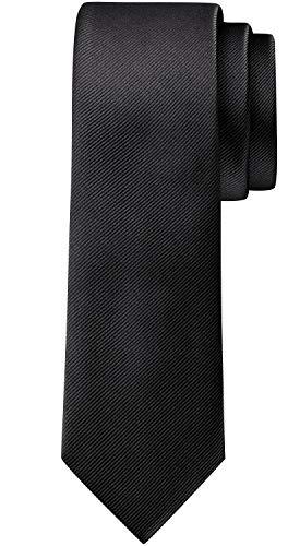 BomGuard 6cm herren-krawatte matt schwarz schmale weihnachten seide damen männer frauen