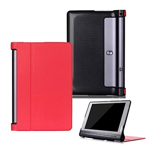 Kepuch Custer Case for Lenovo Yoga Tab 3 Plus 10.1 YT-X703/Yoga Tab 3 Pro 10.1 YT3-X90l YT3-X90F,Ultra-thin PU-Leather Hard Shell Cover - Red