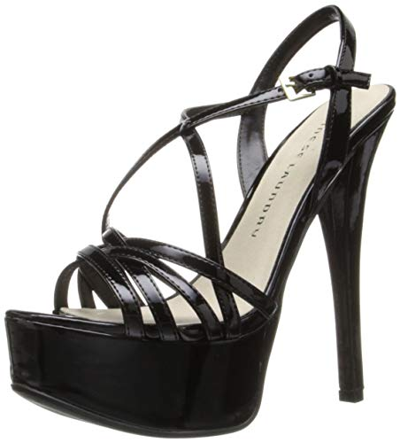 Chinese Laundry Women's Teaser Platform Dress Sandal, Black Patent, 8.5 M US