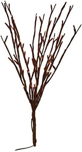 Zeerkeer LED Lichterzweige Dekoleuchte Dekozweige 20 LEDs Lichter Zweige Lichterbaum LED Baum Dekobeleuchtung Innen Außen Batteriebetrieben Dekorative Lichter für Weihnachten Ostern (3pc)