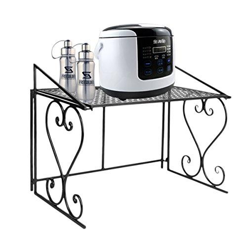 Dazon Metall Mikrowelle Regal Küchenregal Mikrowellenhalter (Schwarz)