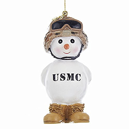The Lakeside Collection Kurt Adler U.S. Marine Corps Snowman Christmas Ornament United States Military USMC New