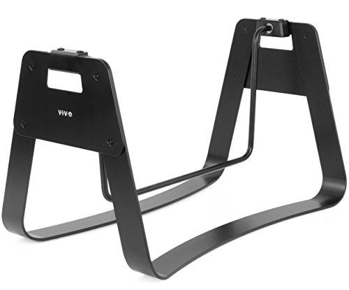 VIVO Black Ergonomic Steel Fidget Bar, Standing, Sitting, Rocking, Swinging, Relief Foot Rest STAND-FT02R