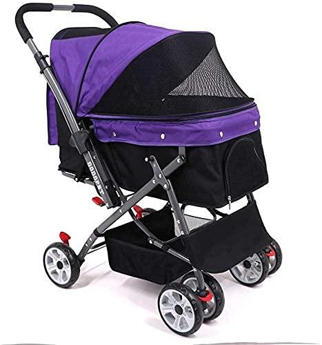 Passeggino passeggino portatile passeggino passeggino pet passeggio passeggino multi-funzione pieghevole gatto e caricamento 20 kg a solo pulsante auto fuori auto all aperto piccolo conveniente per e
