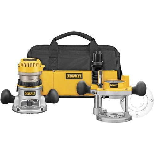 DEWALT Router, Fixed/Plunge Base Kit, Variable Speed, Soft Start, 2-1/4-HP (DW618PKB)