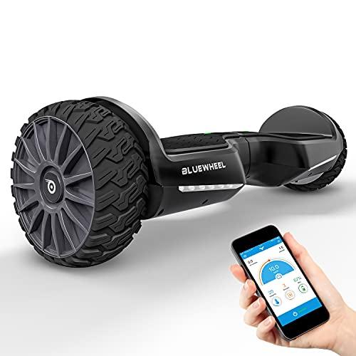 BLUEWHEEL Hoverboard Offroad compatibile con App + altoparlante Bluetooth + LED | Design esclusivo | Tavola...