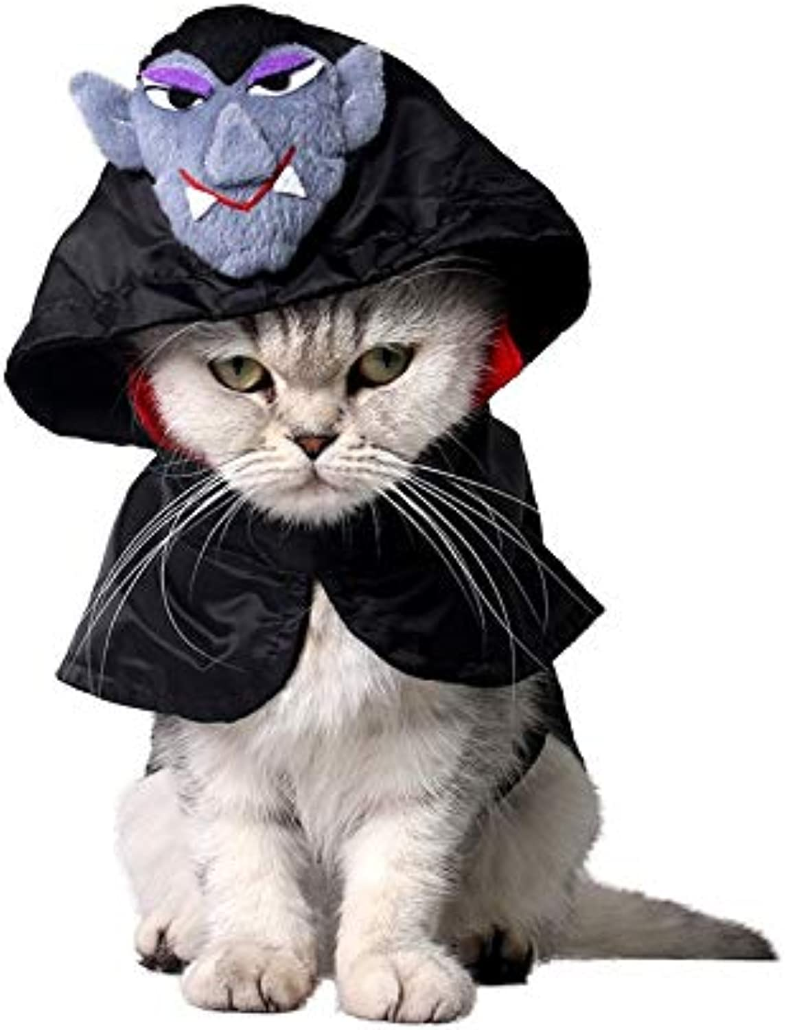 Albabara Cute Hooded Cloak Witch Wizard Costume for Dogs & Cat Kitten, Halloween Costume Headwear Cosplay Accessories for Cats and Small Dogs Less Than 4Lb