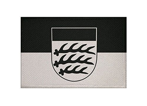 U24 Aufnäher Waiblingen Fahne Flagge Aufbügler Patch 9 x 6 cm
