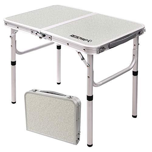 REDCAMP おりたたみテーブル アウトドア キャップ コンパクト 高さ調整 60x40x26-50cm/60x40x26-48-60cm/60x60x26-70cm/90x60x38cm-70cm/120x60x56-70cm