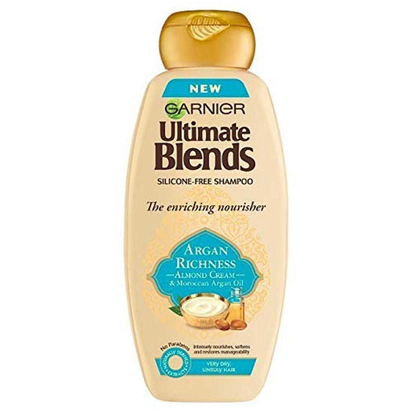 欺くの面ではメニュー[Garnier ] 究極は、アルガンオイル&アーモンドシャンプー360ミリリットルをブレンド - Ultimate Blends Argan Oil & Almond Shampoo 360ml [並行輸入品]