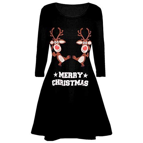 Weihnachtenkleid Damen Elegant Abendkleid Vintage Weihnachten Party Kleid Mesh Brautkleid Retro Cocktailkleid Rockabilly Minikleid Kleidung