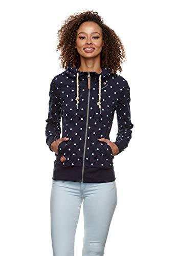 Ragwear Zipper Damen PAYA DOTS 2111-30039 Blau 2028 Navy, Größe:S