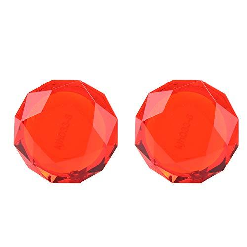 Shanrya Cubierta De Empuñaduras para El Pulgar Tapa Protectora De La Palanca De Mando Larga Vida útil Alta Fiabilidad para PS3(Rojo)