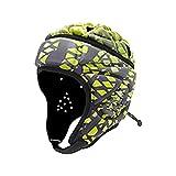 6SHINE Casco suave de rugby, equipo de protección para la bandera de rugby, fútbol ajustable, portero de fútbol, protección de la cabeza de portero para jóvenes adultos (M,C)