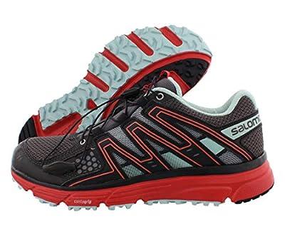 Salomon Women's X-Mission 3 Trail Running Shoes, Magnet/Black/Poppy Red, 8.5