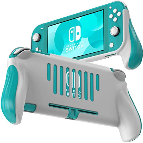 Grip for Nintendo Switch Lite, JUSPRO Ergonomic Comfort Handheld Protective Gaming Case Portable Cover Accessories Compatible with Nintendo Switch Lite