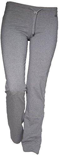 Pantajazz - Pantalones de cintura baja rectos con cigarrillo deportivo, para fitness, danza, gimnasio, pilates, caminar, de algodón elástico para mujer y niña gris 40