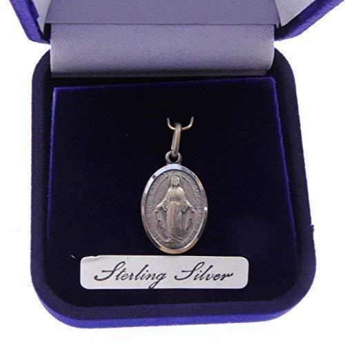 R Heaven - Milagroso de Plata Esterlina Maria Regalo Medalla de Caja 20Mm