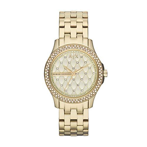 Armani Exchange Damen Analog Quarz Uhr mit Edelstahl Armband AX5216