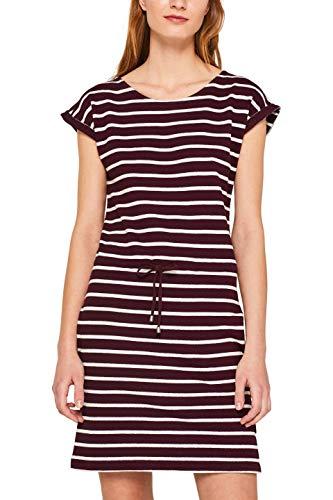 ESPRIT Damen 049EE1E004 Kleid, Rot (Bordeaux Red 2 601), Small (Herstellergröße: S)