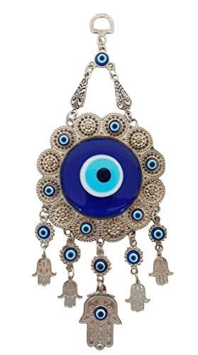 Erbulus Turkish Glass Flower Design Blue Evil Eye...