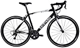 Tommaso Monza Endurance Aluminum Road Bike, Carbon Fork, Shimano Tiagra, 20 Speeds, Aero Wheels - Matte Black - Small