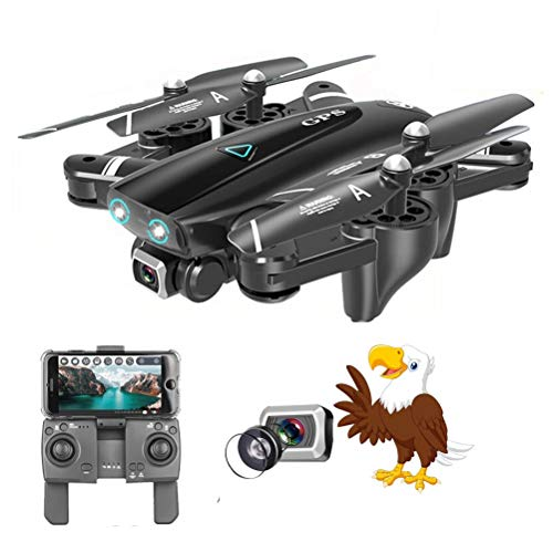 WXFXBKJ S167 Best Camera Drone 4K 1080P HD Dual Camera Follow Me Quadrocopter FPV Professional GPS Long Battery Life Toy for Kids (Color : Without GPS 1080P)