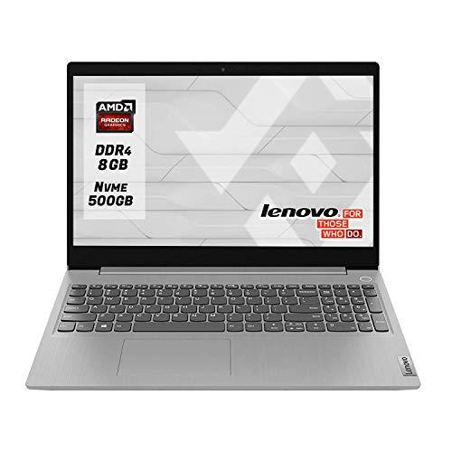 """Notebook Lenovo Pc portatile pronto all uso preconfigurato con cpu Amd A4 3020 Display 15.6"""" Ram 8Gb Ddr4 SSd M.2 500 Gb NVMe,Hdmi,Wi fi,Bluetooth,Windows 10 PRO"""