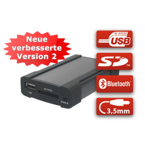 XCarLink 2 USB SD AUX MP3 Wechsler KFZ Auto Radio Music Interface Adapter für VW (Mini-ISO / 8-Pin)