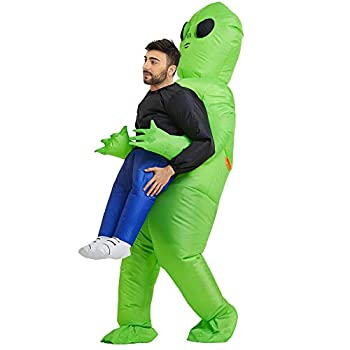 TOLOCO Inflatable Costume for Adult Inflatable Alien Costume Adult Alien Holding Person Costume Halloween Blow up Costume