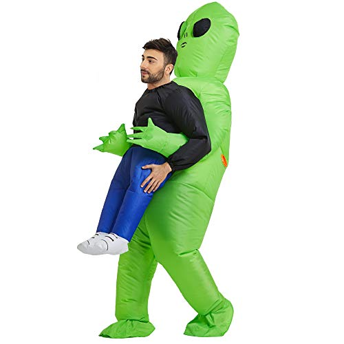 TOLOCO Inflatable Alien Costume Adult, Inflatable Costume Adult, Inflatable Halloween Costumes for Men, Alien Blow up Costumes for Adults
